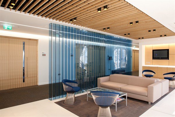 Quartered Olive ash media wall and reception foyer.jpg