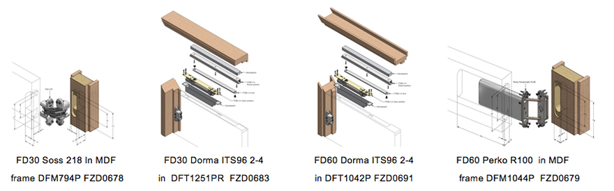 Concealed Hinges (click here) u0026 Concealed Closers (click here) FD30 u0026 FD60 available in Timber or MDF frames  sc 1 st  Forza Doors & Forza Doors | 30 u0026 60min Fire Rated Ironmongery Installation